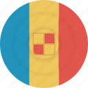 andorra, country, flag, geography, national, nationality icon
