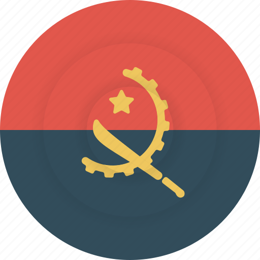 angola, country, flag, geography, national, nationality icon