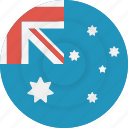 australia, country, flag, geography, national, nationality icon