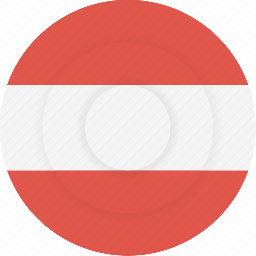 austria, country, flag, geography, national, nationality icon