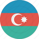 azerbaijan, country, flag, geography, national, nationality icon