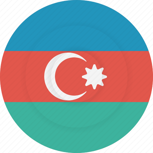 azerbaijan, country, flag, geography, national, nationality icon