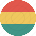 bolivia, country, flag, geography, national, nationality icon