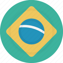 brazil, country, flag, geography, national, nationality icon