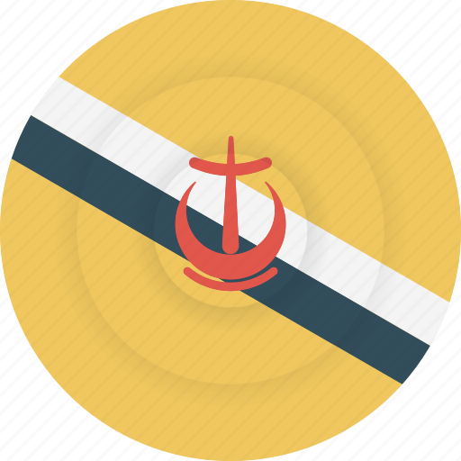 brunei, country, flag, geography, national, nationality icon