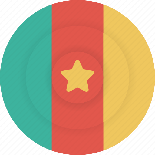 cameroon, country, flag, geography, national, nationality icon