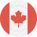canada, country, flag, geography, national, nationality icon
