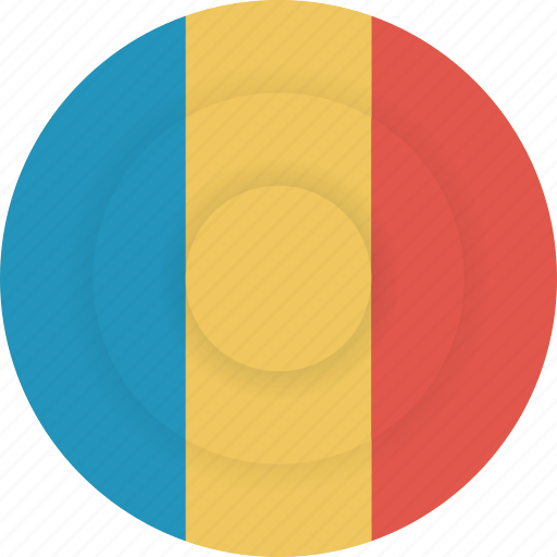 chad, country, flag, geography, national, nationality icon