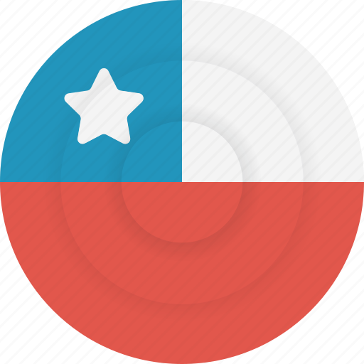 chile, country, flag, geography, national, nationality icon