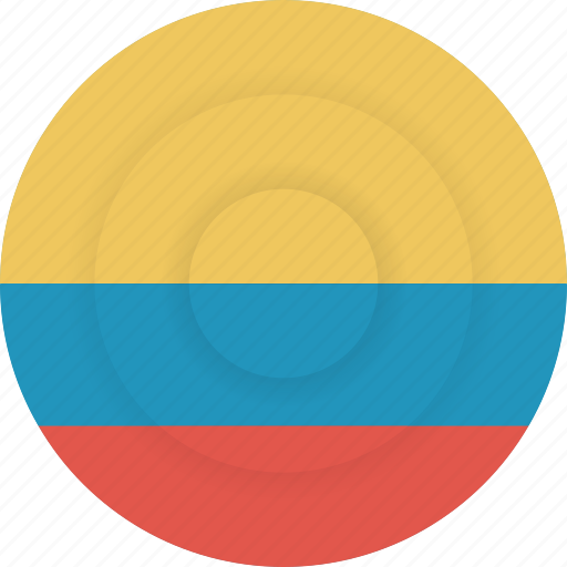 colombia, country, flag, geography, national, nationality icon