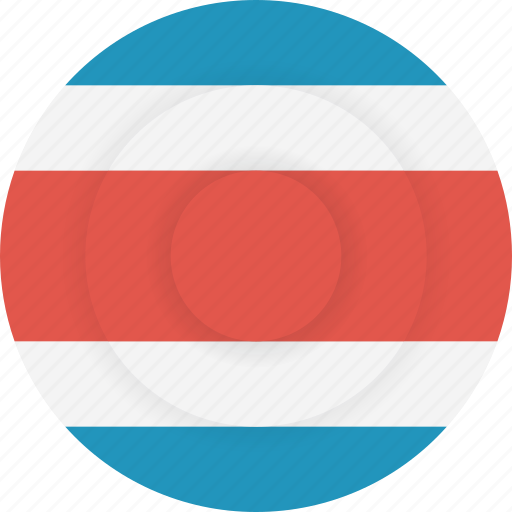 costa, country, flag, geography, national, nationality, rica icon