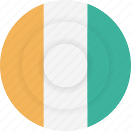 cote, country, divoire, flag, geography, national, nationality icon