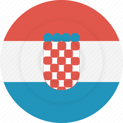 country, croatia, flag, geography, national, nationality icon