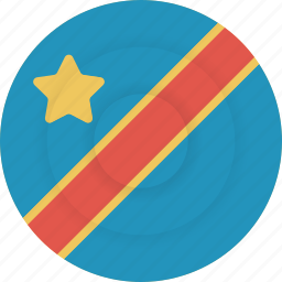 congo, country, democratic republic of the congo, flag, geography, national, nationality icon