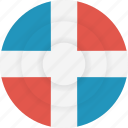 country, dominican, dominican republic, flag, geography, national, nationality icon