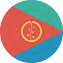 country, eritrea, flag, geography, national, nationality icon