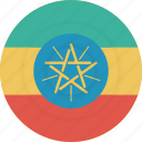 country, ethiopia, flag, geography, national, nationality icon