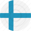 country, finland, flag, geography, national, nationality icon