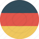 country, flag, geography, germany, national, nationality icon