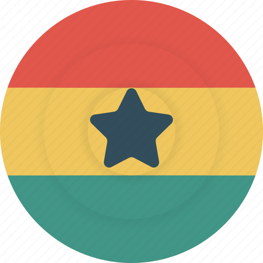 country, flag, geography, ghana, national, nationality icon