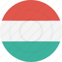 country, flag, geography, hungary, national, nationality icon