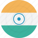 country, flag, geography, india, national, nationality icon