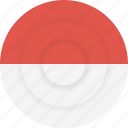 country, flag, geography, indonesia, national, nationality icon