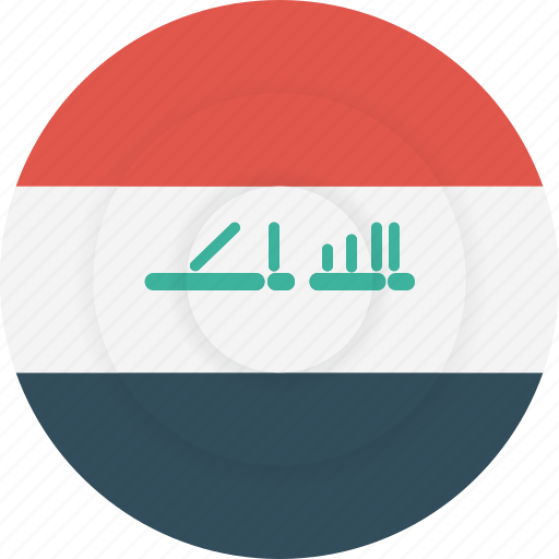 country, flag, geography, iraq, national, nationality icon