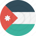 country, flag, geography, jordan, national, nationality