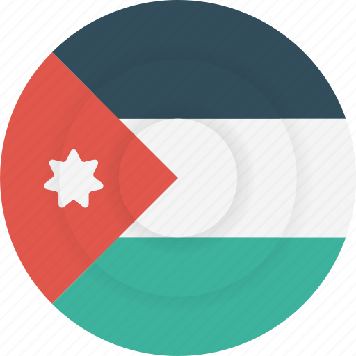 country, flag, geography, jordan, national, nationality icon