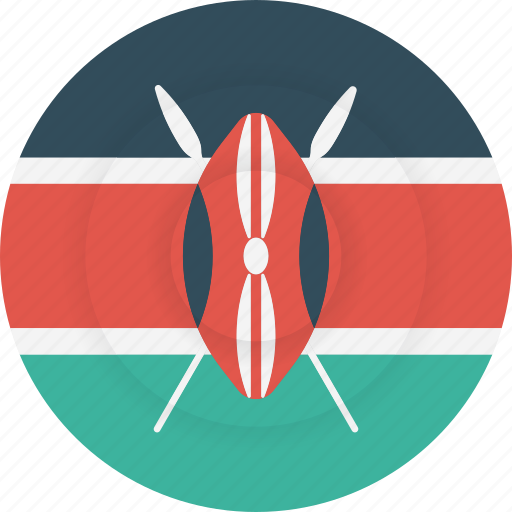 country, flag, geography, kenya, national, nationality icon