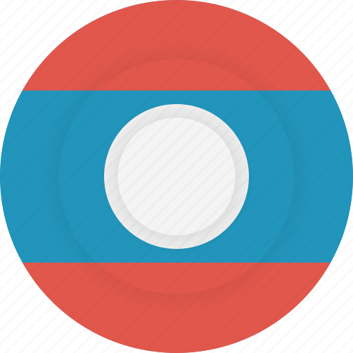 country, flag, geography, laos, national, nationality icon