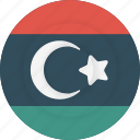 country, flag, geography, libya, national, nationality icon