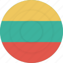country, flag, geography, lithuania, national, nationality icon