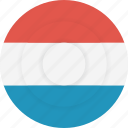 country, flag, geography, luxembourg, national, nationality icon
