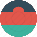 country, flag, geography, malawi, national, nationality icon