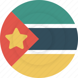 country, flag, geography, mozambique, national, nationality icon