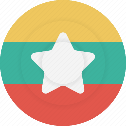 country, flag, geography, myanmar, national, nationality icon
