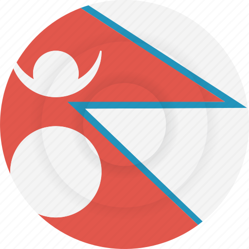 country, flag, geography, national, nationality, nepal icon