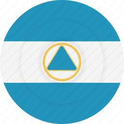 country, flag, geography, national, nationality, nicaragua icon