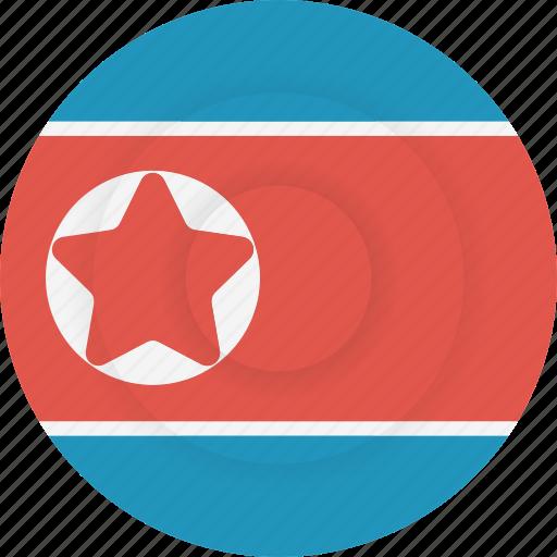 country, flag, geography, korea, national, nationality, north korea icon