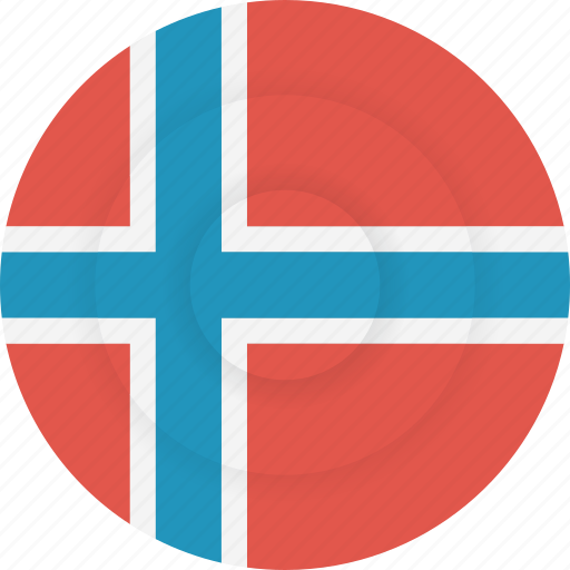 country, flag, geography, national, nationality, norway icon