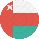 country, flag, geography, national, nationality, oman icon