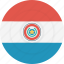 country, flag, geography, national, nationality, paraguay icon
