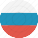 country, flag, geography, national, nationality, russian icon