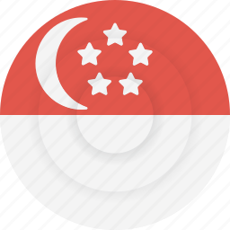 country, flag, geography, national, nationality, singapore icon