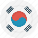 country, flag, geography, korea, national, nationality, south korea icon