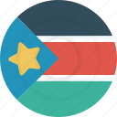 country, flag, geography, national, nationality, south sudan, sudan icon