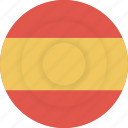country, flag, geography, national, nationality, spain icon