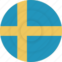 country, flag, geography, national, nationality, sweden icon